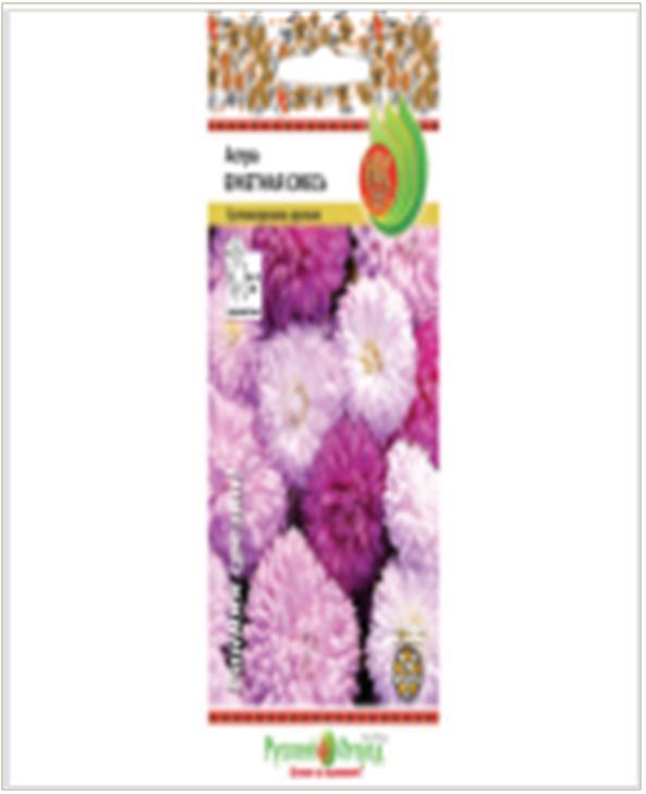 Фото - Цветы астра букетная смесь 0,1г р/о семена василек букетная смесь 2г