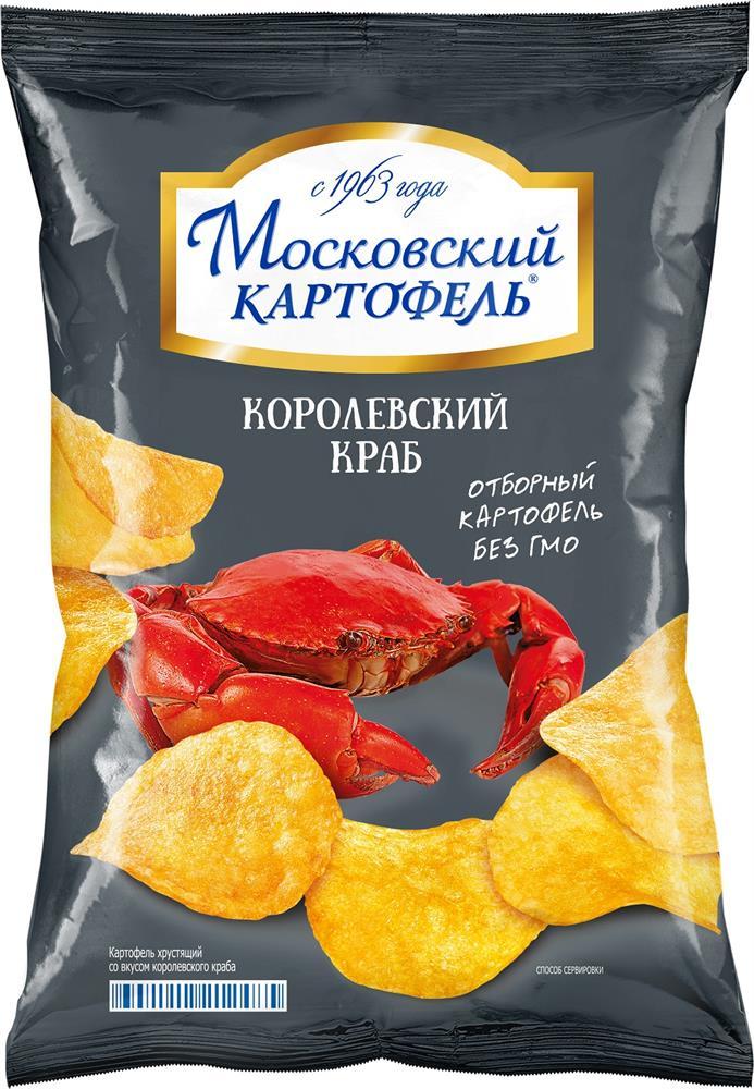 Чипсы московский картофель 60 г королевский краб