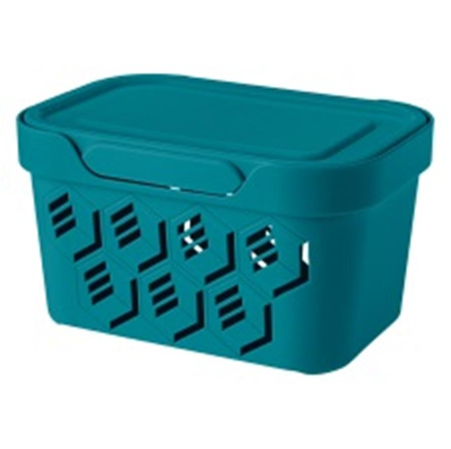 Ящик универсальный 18,9*13,2*11см бытпласт делюкс 1,9л голубой