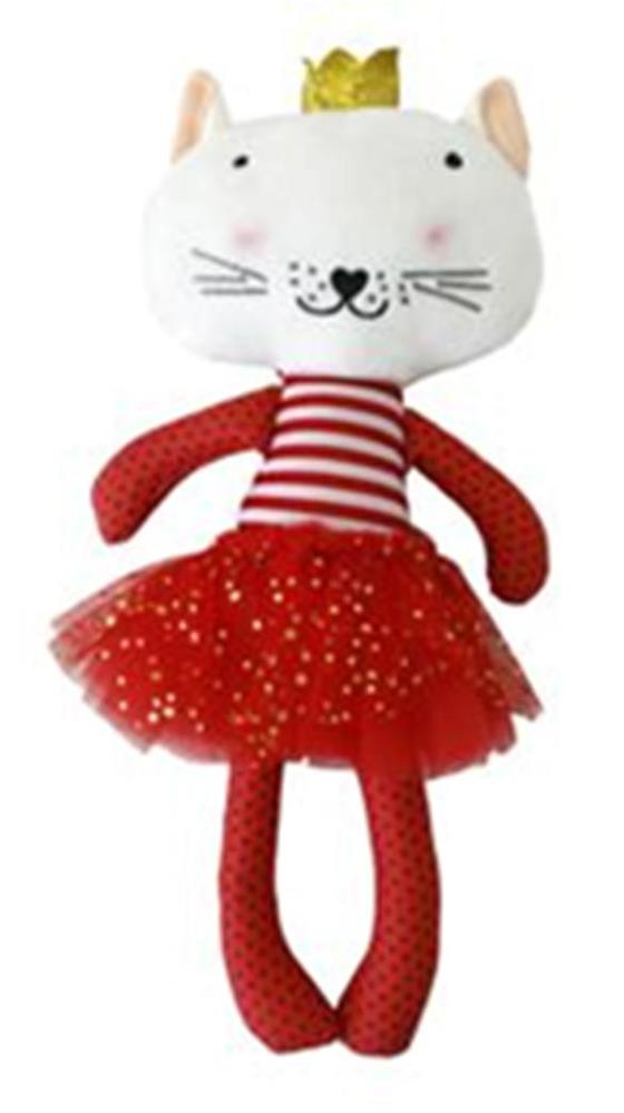 Игрушка мягкая любимый котик 35см белый/красный 7799
