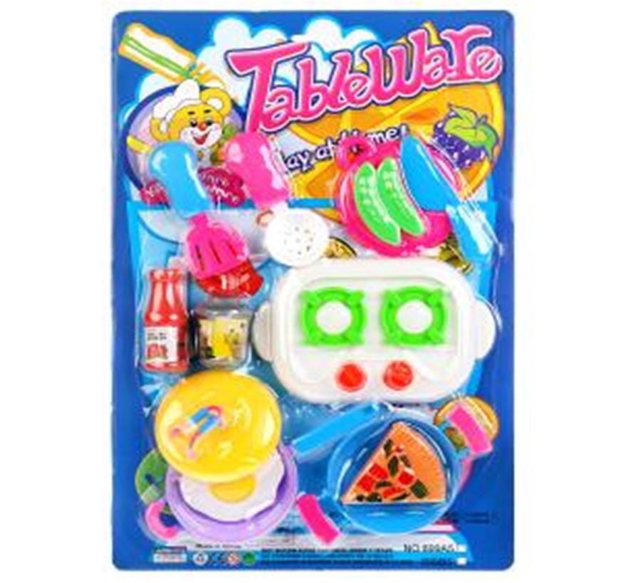 Набор игровой посуда с продуктами 288932
