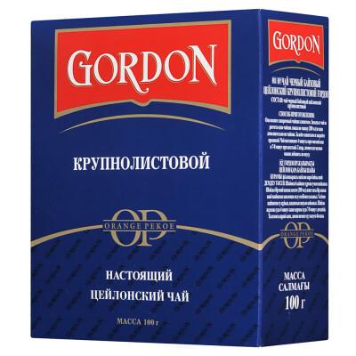 Чай Gordon 100г черный крупнолистовой