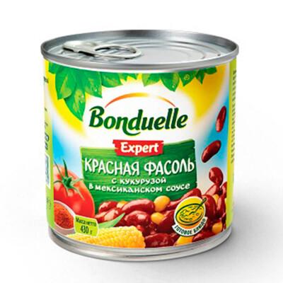 Фасоль красная Bonduelle с кукурузой в мексиканском соусе 430г