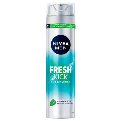 Гель для бритья Nivea 200мл освежающий для нормальной кожи