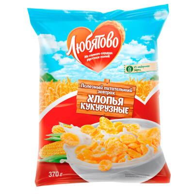 Хлопья Любятово 300г кукурузные с сахаром пакет