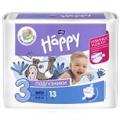 Подгузники Bella Baby Happy 13шт 5-9кг уни миди
