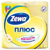Туалетная бумага Zewa Плюс Ромашка, 2 слоя, 4 рулона