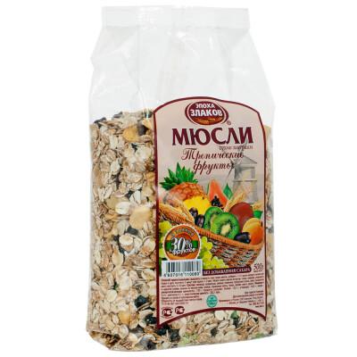 Мюсли Эпоха Злаков 500г тропические фрукты люкс версия