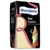 Крупа рис Мистраль 1кг индика белый длиннозерный