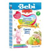 Каша Bebi премиум 200г молочная гречка курага яблоко с 5 месяцев