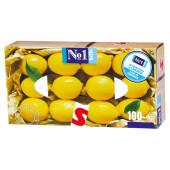 Платочки универсальные Bella 100шт №1 лимон