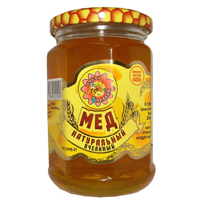 Мед натуральный цветочный пчела Маня 400г