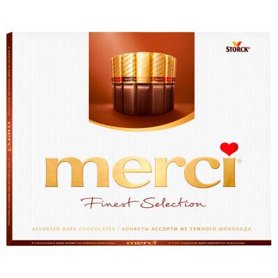 Конфеты Merci 250г горький шоколад Storck