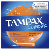 Тампоны Tampax 16шт компакт супер плюс с аппликатором