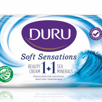 Мыло Duru 1+1 80г морские минералы