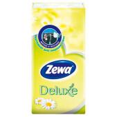 Носовые платки Zewa Deluxe ромашка, 3 слоя, 10шт.