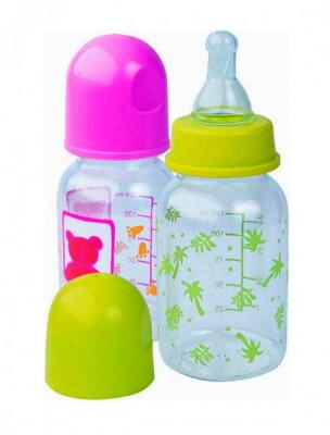 Бутылочка Курносики 125мл 0+ силиконовая соска мишки