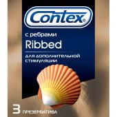 Презервативы Contex 3шт риббед ребристые