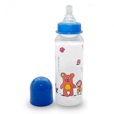 Бутылочка Курносики 250мл 0+ силиконовая соска мишки