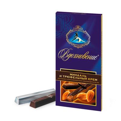 Шоколад вдохновение 100г с трюфельным кремом и миндалем бабаевский