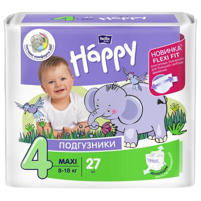 Подгузники Bella Baby Happy 27шт maxi 8-18кг