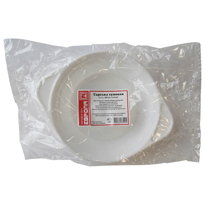 Тарелка суповая Европа 500мл 6шт белая