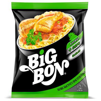 Лапша Big Bon 75г курица + соус сальса б/п
