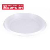 Тарелка столовая Европа 1-секц 12шт 20,5см белая