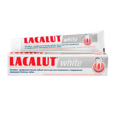 Зубная паста Lacalut 75мл уайт отбеливающая