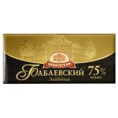 Шоколад элитный Бабаевский 200г 75%