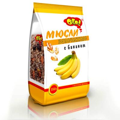 Мюсли ого 350г запечённые с бананом