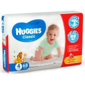 Подгузники Huggies Classic 68шт 7-18кг 4 джамбо