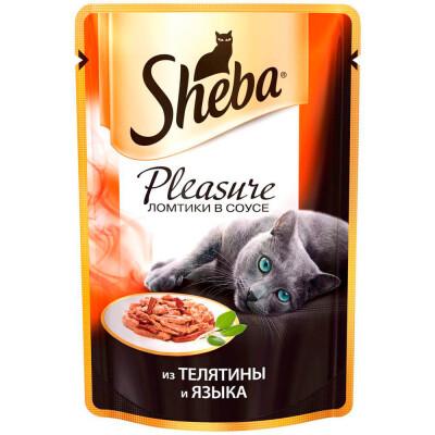 Корм для кошек Sheba Pleasure 85г из телятины и языка
