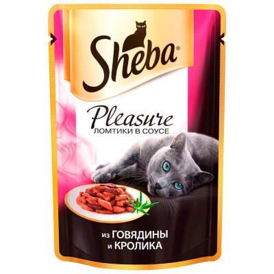 Корм для кошек Sheba Pleasure 85г из говядины и кролика