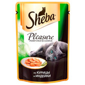 Корм для кошек Sheba Pleasure 85г из курицы и индейки