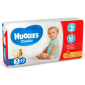Подгузники Huggies Classic 58шт 11-25кг 5 джамбо