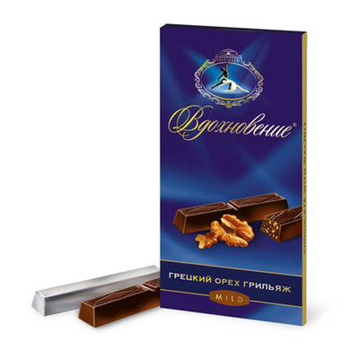Шоколад Вдохновение 100г грецкий орех грильяж Бабаевский