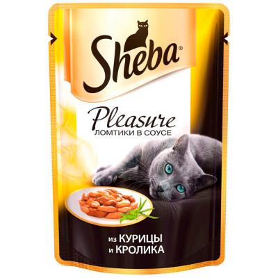 Корм для кошек Sheba Pleasure 85г из курицы и кролика