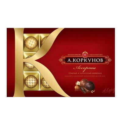 Конфеты Коркунов ассорти 192г темный и молочный шоколад Одинцовская КФ