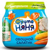 Пюре ФрутоНяня 80г овощной салатик с 5 месяцев
