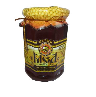 Мед натуральный пчела Маня Премиум гречишный 400г