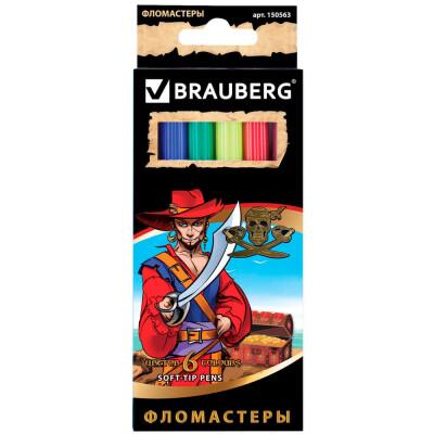 Фломастеры 6цв BRAUBERG корсары 150563