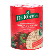 Хлебцы Dr.Korner 100г злаковый коктейль клюквенный хлебпром
