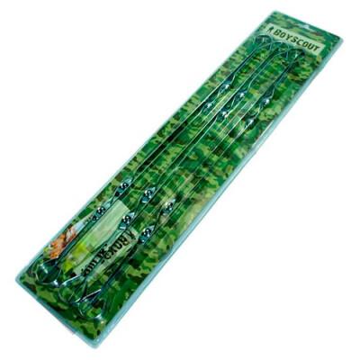 Набор шампуров 6шт 60см BoyScout плоские в блистере 61328