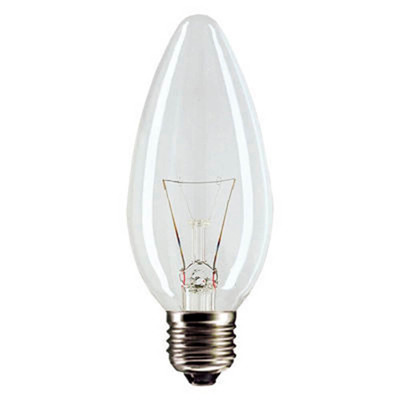 Лампа накаливания космос 40w e14 свеча прозрачная