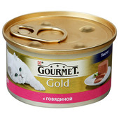 Корм для кошек Gourmet Gold 85г паштет с говядиной ж/б