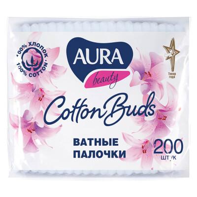 Ватные палочки Aura 200шт п/п