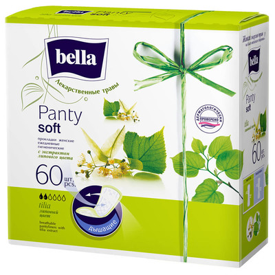 Прокладки ежедневные Bella панти софт 60шт липовый цвет