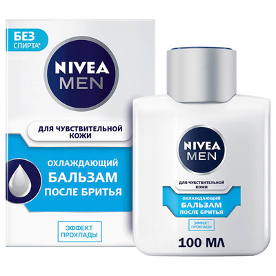 Бальзам после бритья Nivea 100мл охлаждающий для чувствительной кожи
