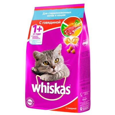 Корм для кошек Whiskas 1,9кг с говядиной